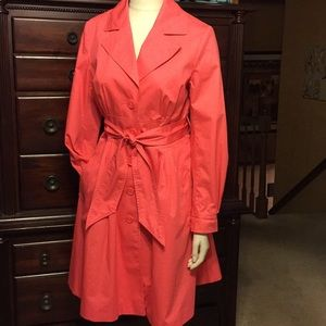 Coral Trench Coat.